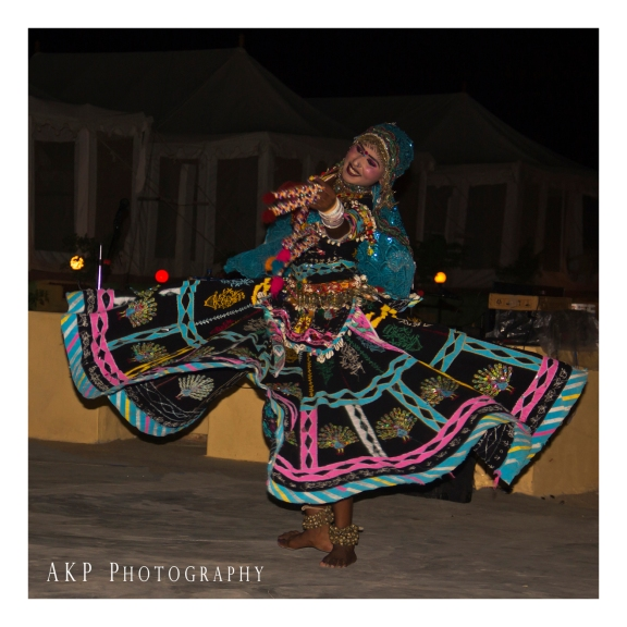 Multicolored 'Ghagra'-clad Tribal Dancer...
