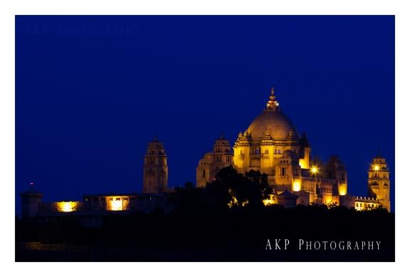 Umaid Bhawan Palace by night... Photo: AKP Photography