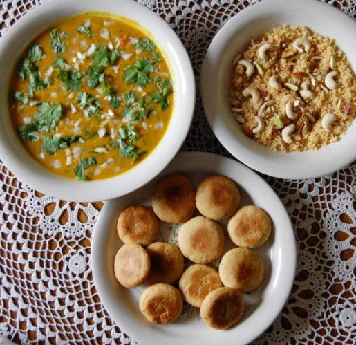 Daal, Baati and Choorma... Courtesy: The Hindu