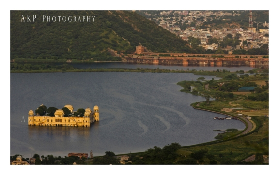 The Jal Mahal Palace in the middle of Man Sagar lake - as seen from Nahargarh Fort... Photo: AKP Photography