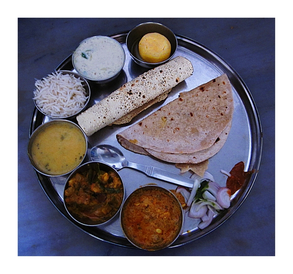 A typical Rajasthani Thali... as good as it looks... Photo: AKP Photography