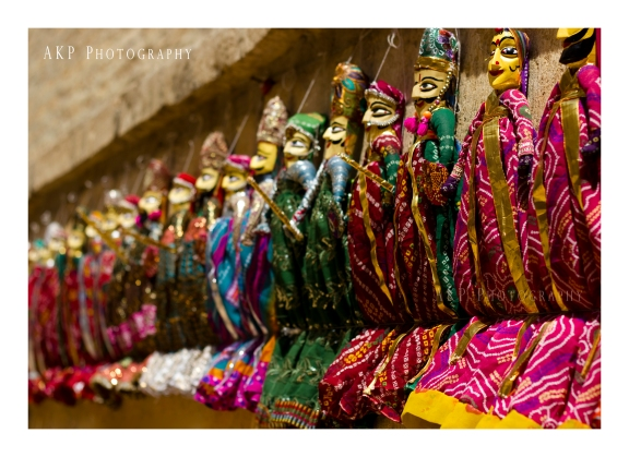Colorful hand-made cloth dolls... a common sight in Rajasthan... Photo: AKP Photography