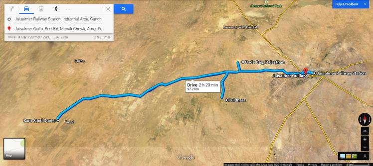 Jaisalmer Trip - Map 1